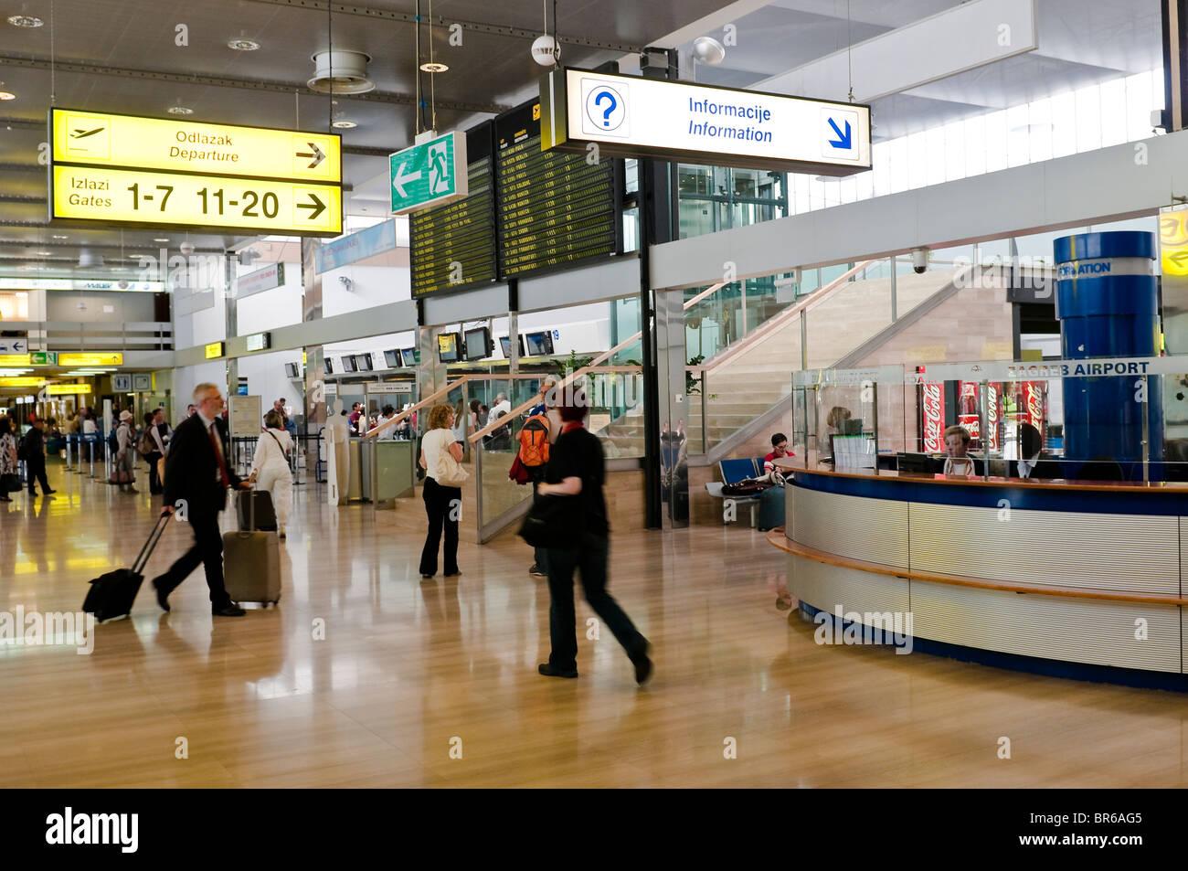 Zagreb International Airport Traveler Ambiance Croatia Stock Photo Alamy