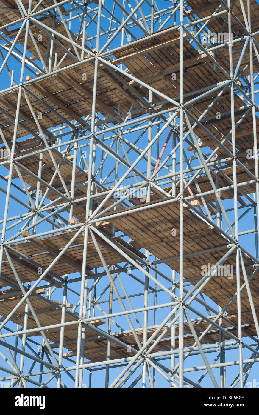 Scaffolding as Safety Equipment on a Construction Site - Stock Image