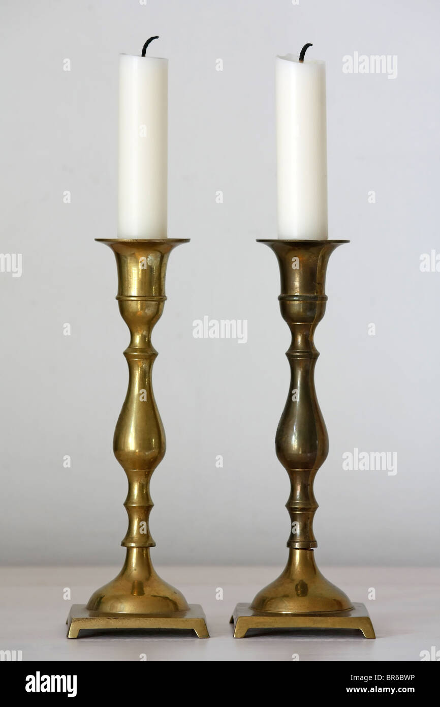 candle holders - Stock Image