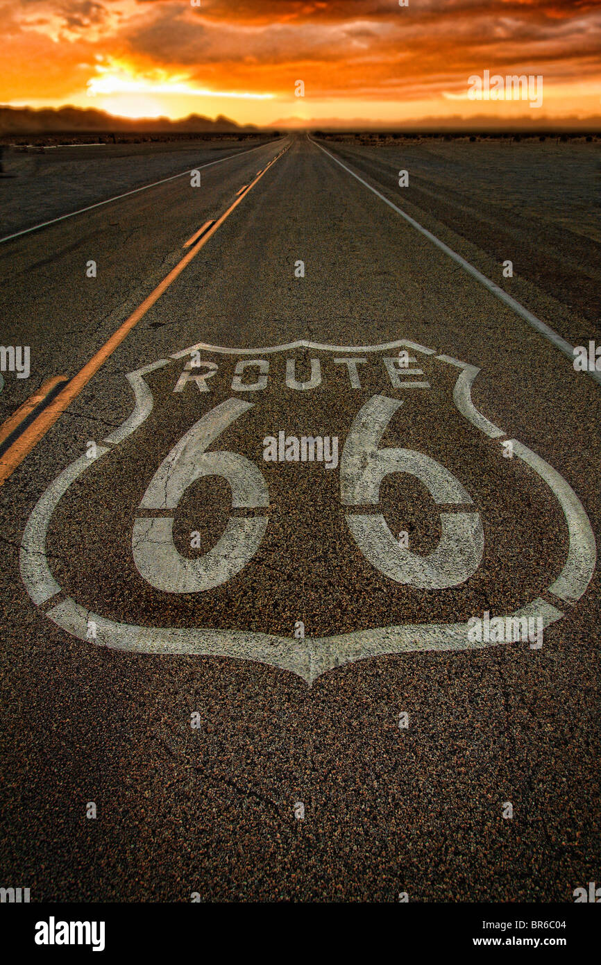 Old Route 66, California, USA - Stock Image
