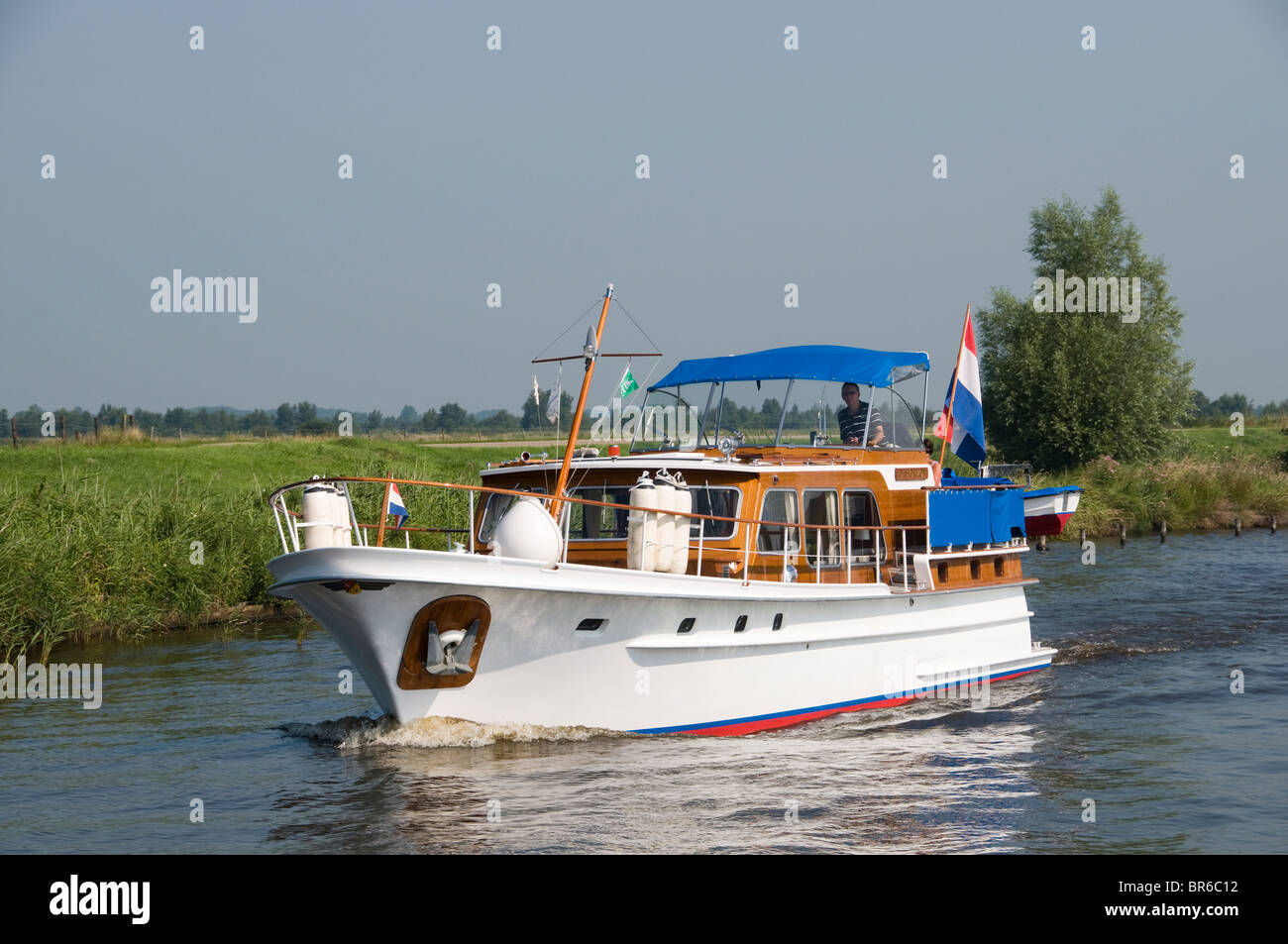 Weerribben  Friesland Fryslan Netherlands  water sport sail sailing boat - Stock Image