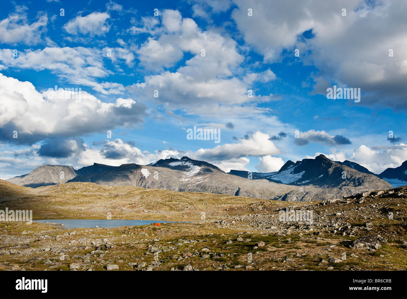 Scenic mountain landscape of Jotunheimen national park, Norway - Stock Image