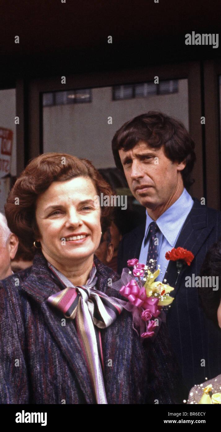 San Francisco, Mayor, Dianne Feinstein and husband Richard Blum, 1982 - Stock Image