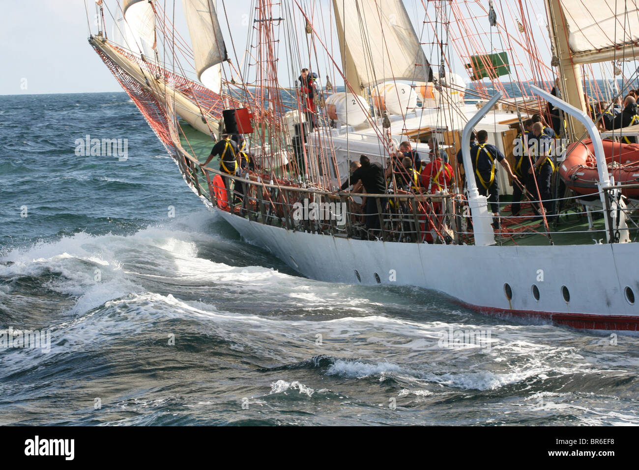Iskra, The Tall Ships Races 2010, Kristiansand - Stock Image