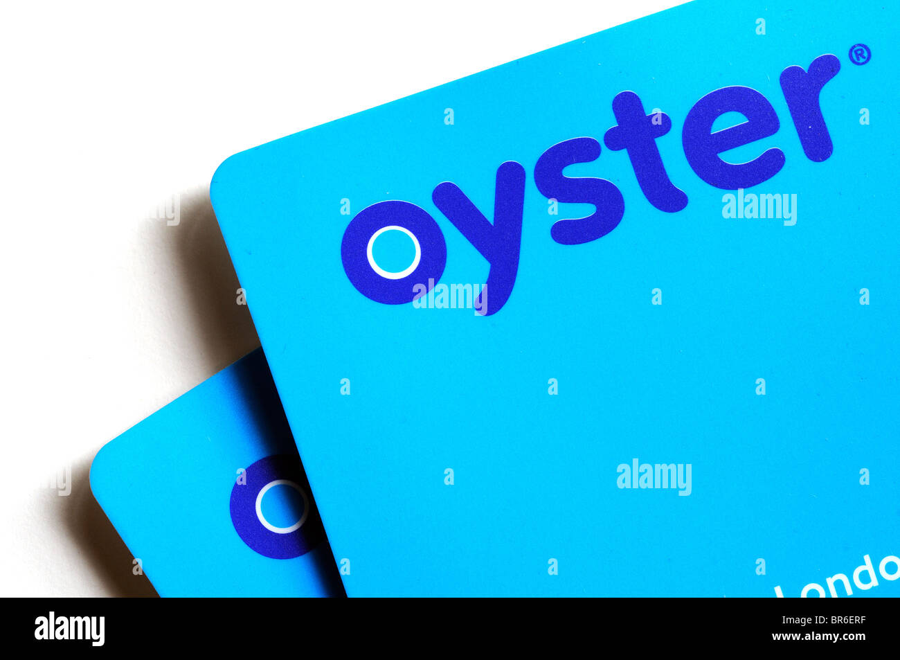 Oyster cards the cashless payment system for use on London public transport - Stock Image