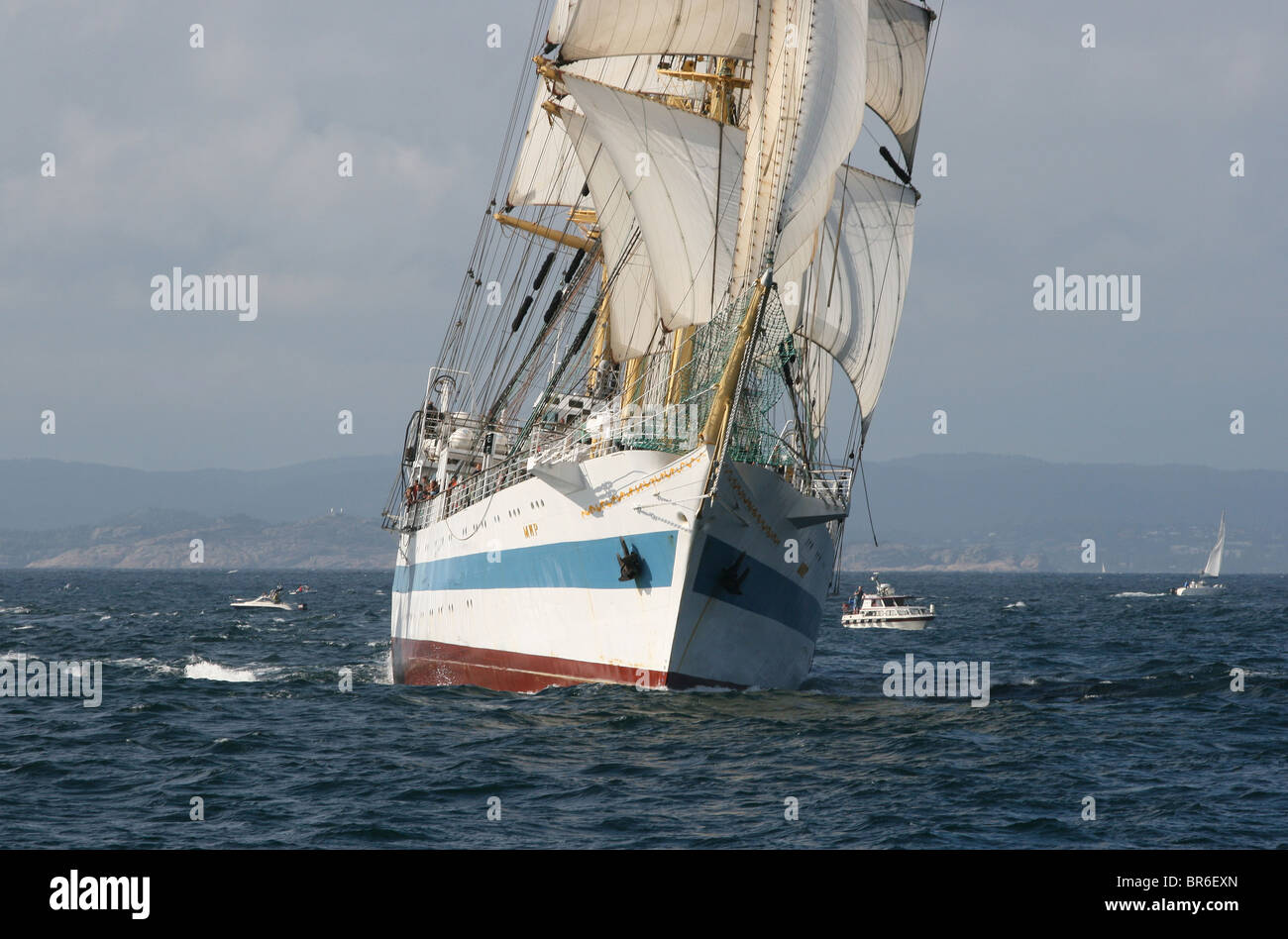 Mir, The Tall Ships Races 2010, Kristiansand - Stock Image