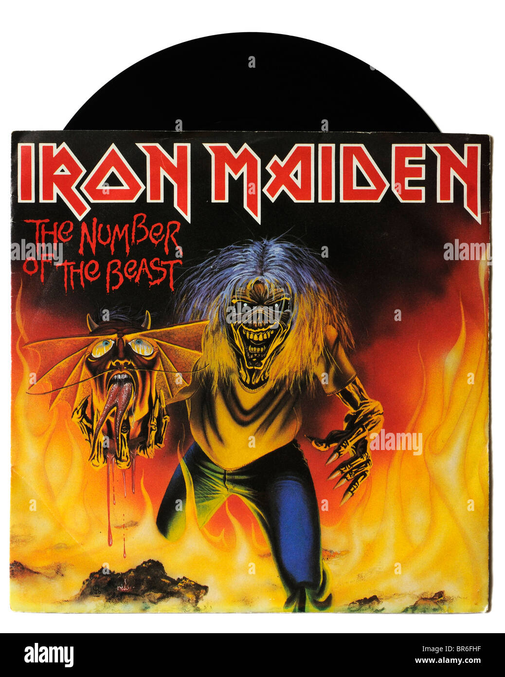 Iron Maiden The Number of the Beast single - Stock Image
