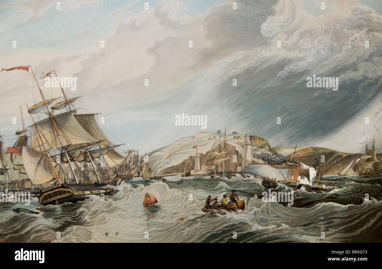 Netherlands Wiebe Annes Visser  1811 English Coast  Ship - Stock Image