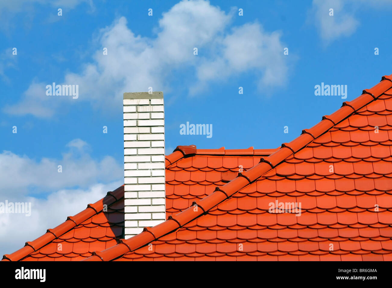 new roof - Stock Image