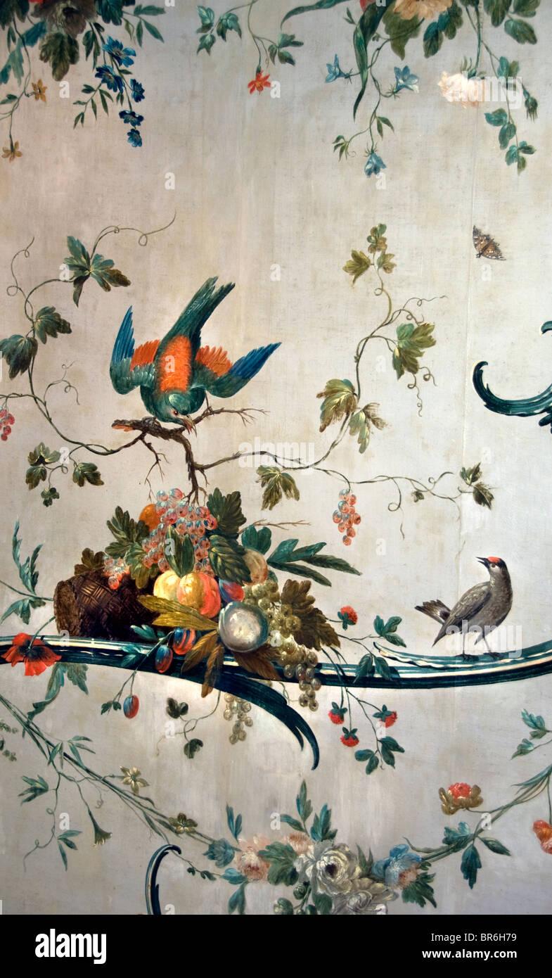 Workum Friesland Netherlands Historic Town City wallpaper 1770 made in Hoorn - Stock Image