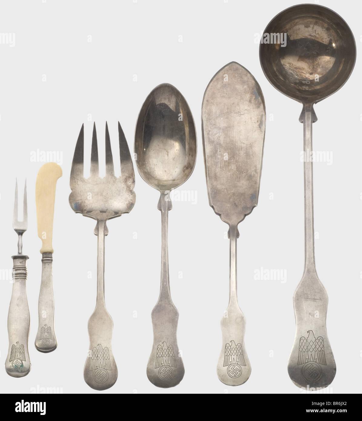 Albert Speer - a 113-piece silverware set in a case. Manufacturer Krupp Berndorf hard silver-plated version hallmarked  90 . & Albert Speer - a 113-piece silverware set in a case. Manufacturer ...