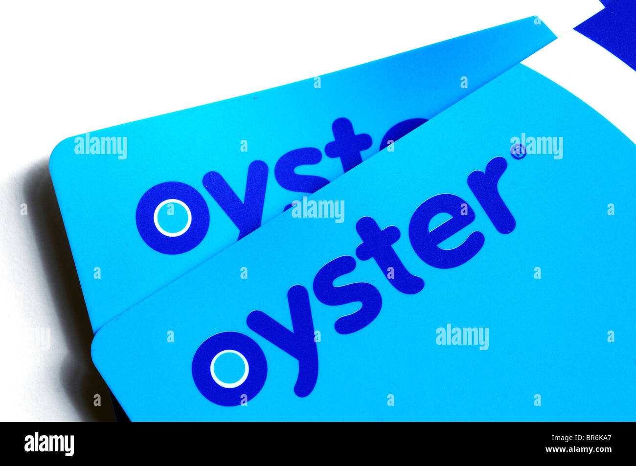Oyster cards, the cashless payment system for use on London public transport - Stock Image