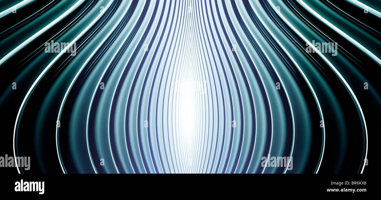 Abstract curved lines cool tones Stock Photo