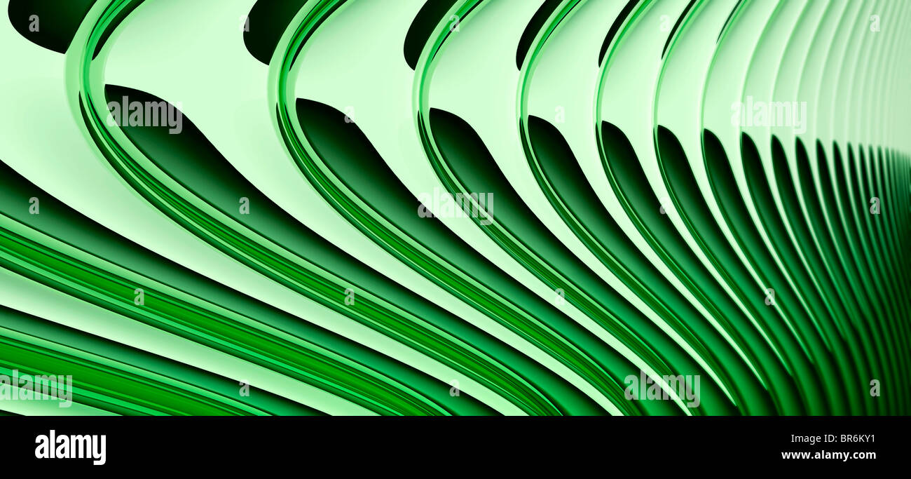 Abstract curved lines, diminishing perspective Stock Photo