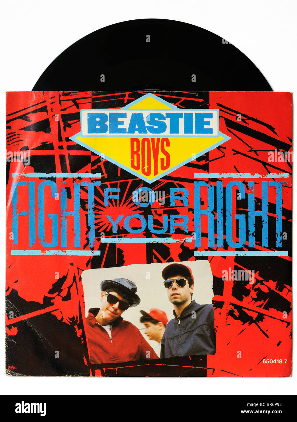 Beastie Boys Fight for your Right single - Stock Image