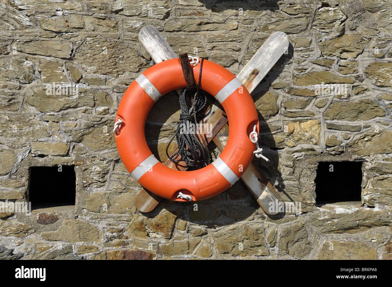 Lifebuoy life belt life saver - Stock Image
