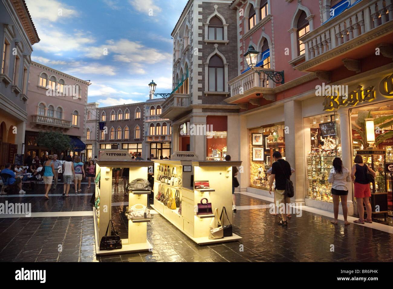 Shops In The Venetian Hotel Las Vegas Usa Stock Photo Alamy