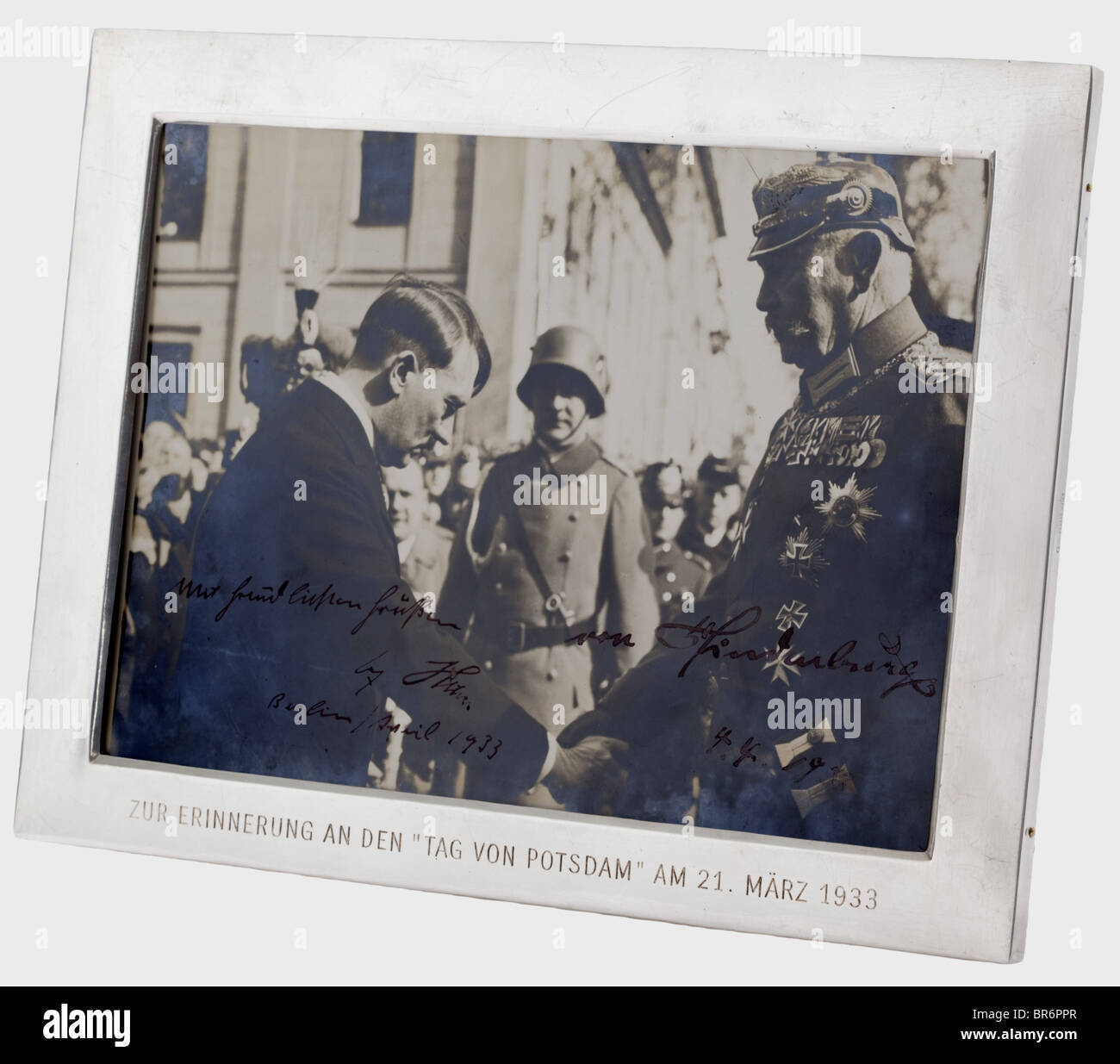 Reich President Paul von Hindenburg (1847 - 1934) and Adolf Hitler - a photograph of the 'Day of Potsdam' - Stock Image
