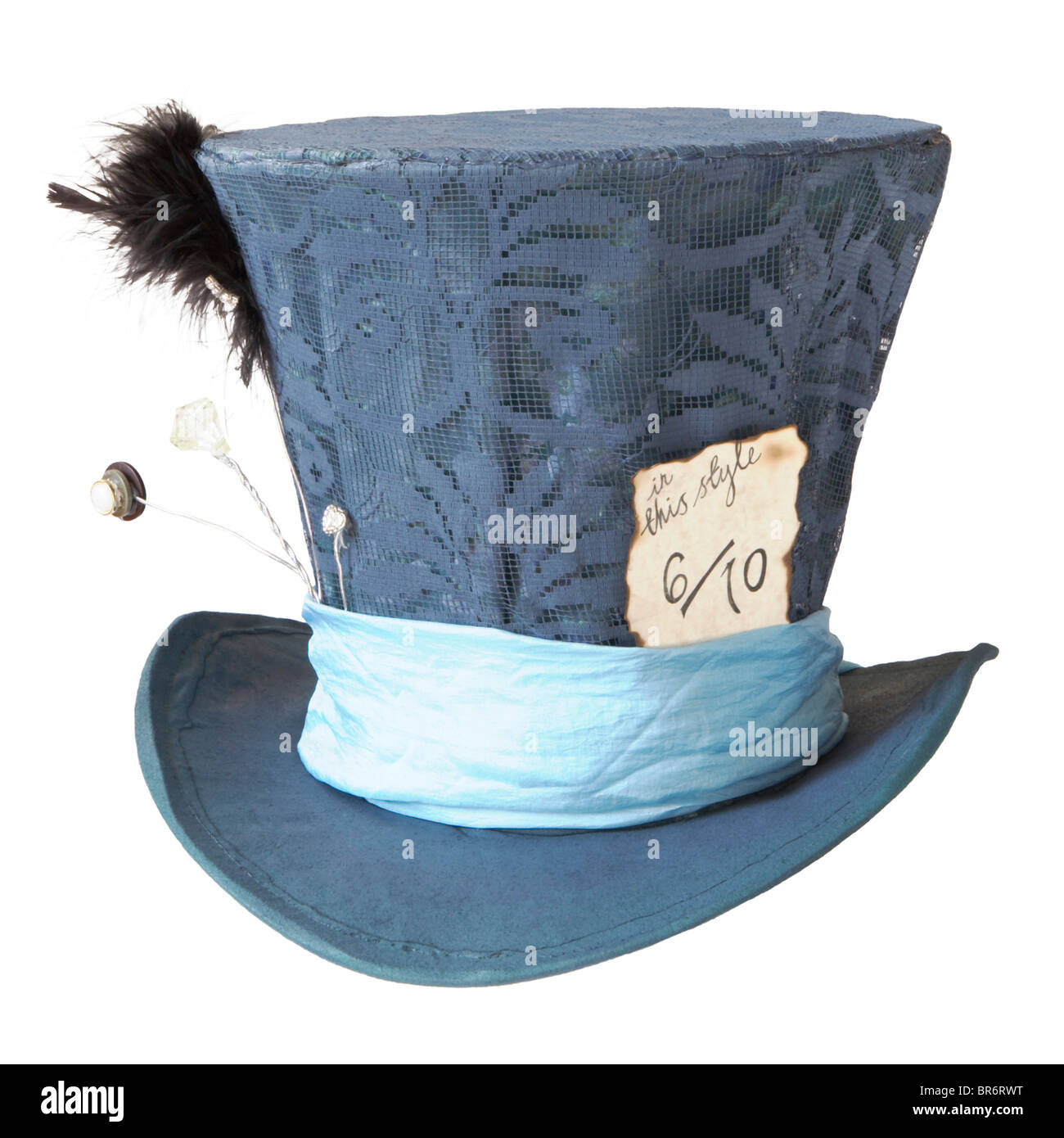 A blue Mad Hatters Hat - Stock Image
