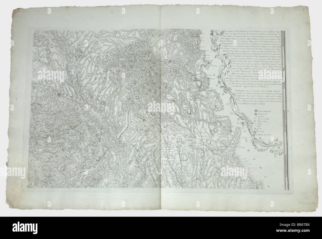A six-piece map of Moldavia, titled 'Carte de la Moldavie pour servire à l'Histoire militaire de la - Stock Image