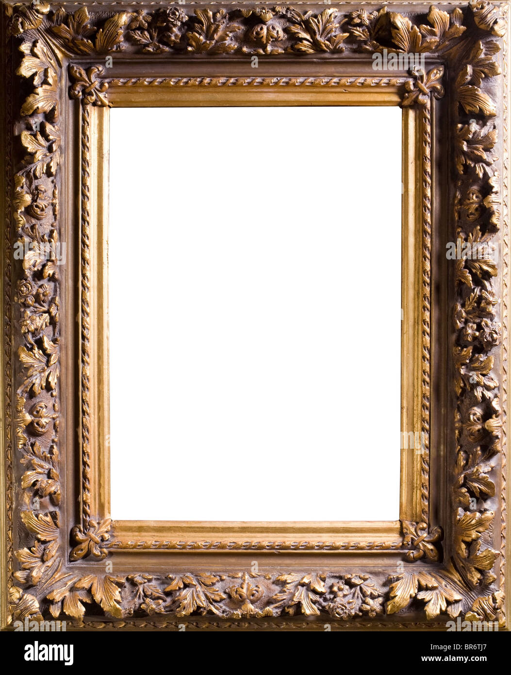 Baget old frame isolated on white. - Stock Image