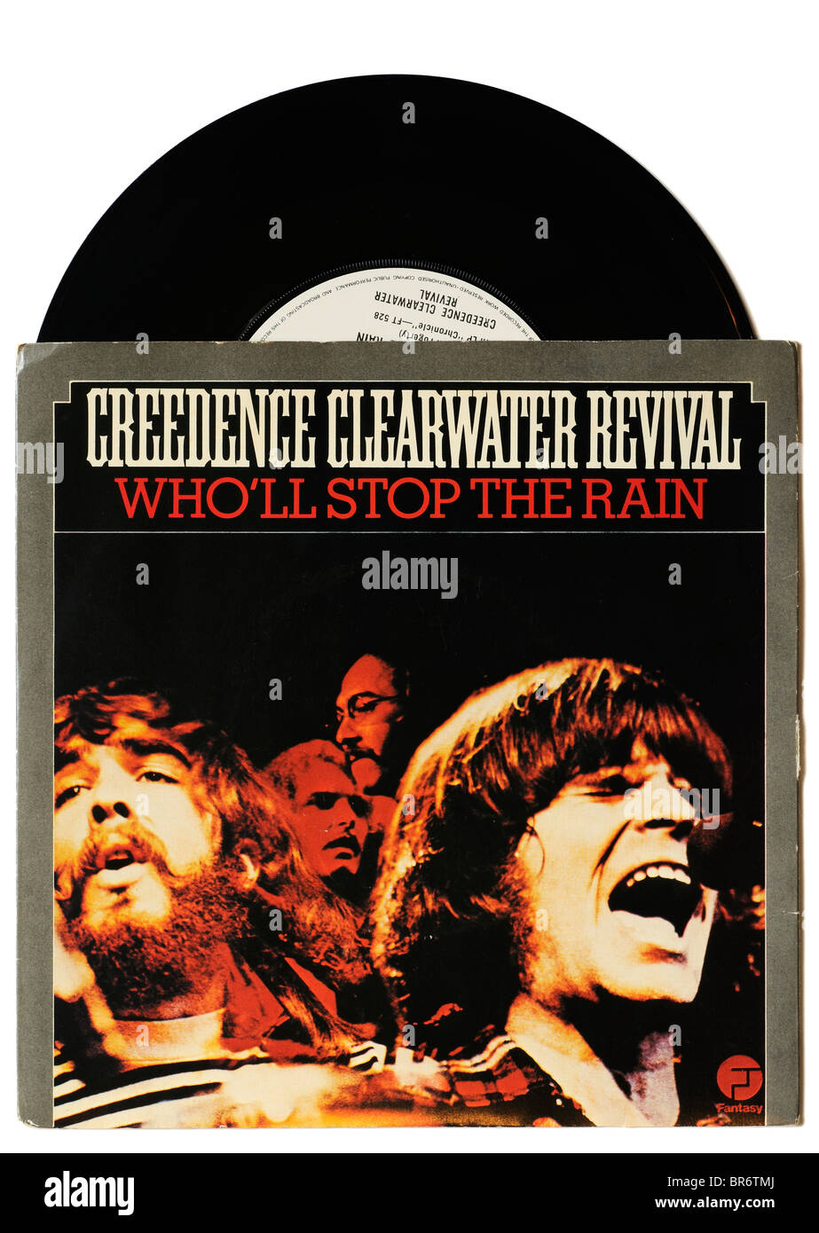 Creedence Clearwater Revival Who'll Stop the Rain single - Stock Image