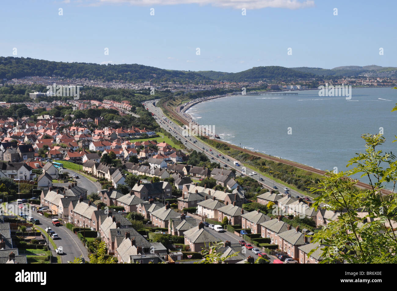 Colwyn Bay, North Wales - Stock Image