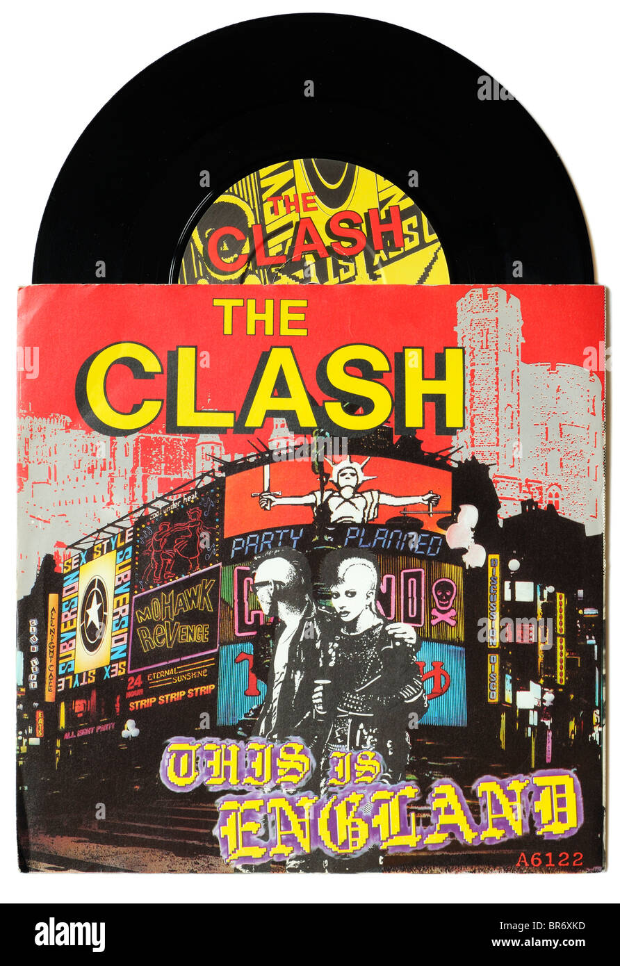 The Clash This is England single - Stock Image