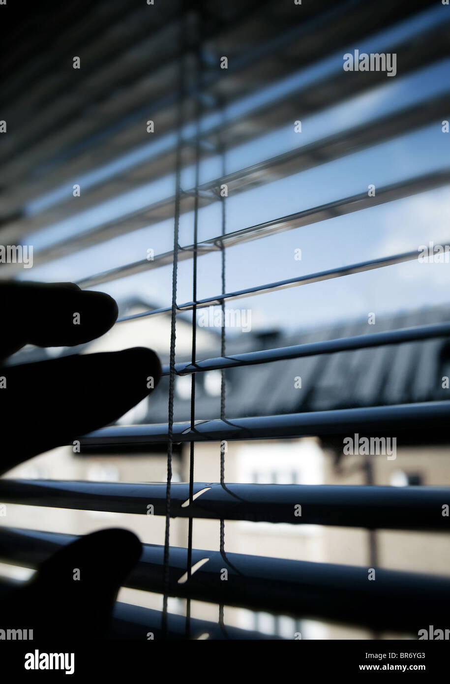 take a look outside - Stock Image