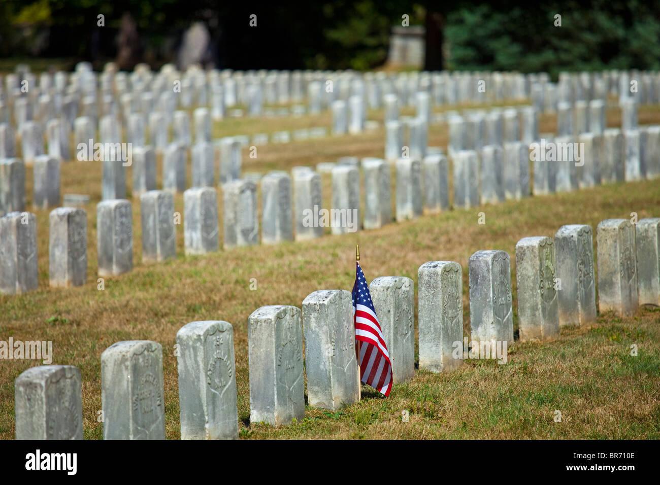 Antietam National Cemetery, Antietam Civil War Battlefield, Virginia USA - Stock Image
