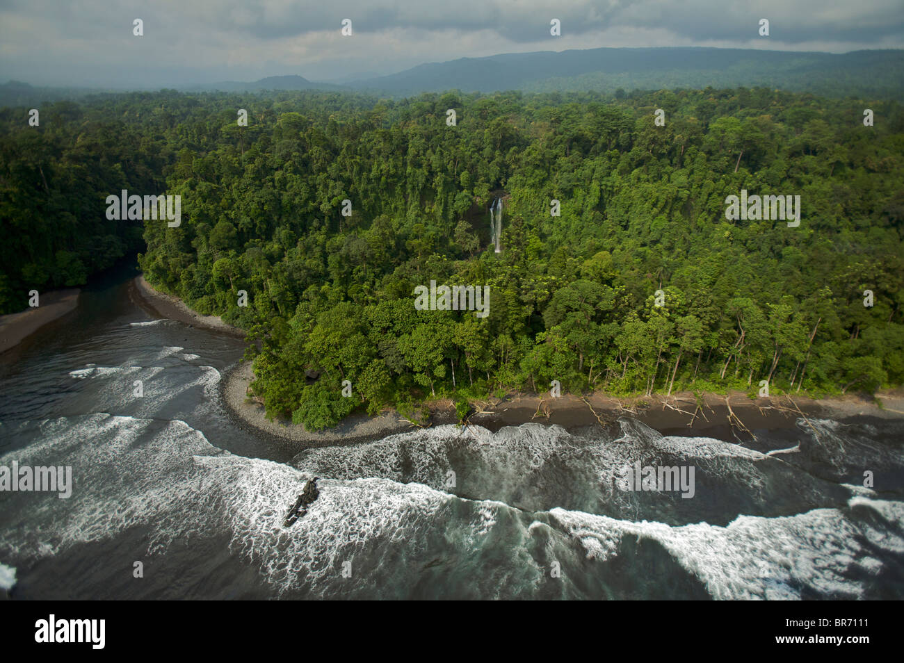 aerial view south coast bioko island equatorial guinea stock photo alamy