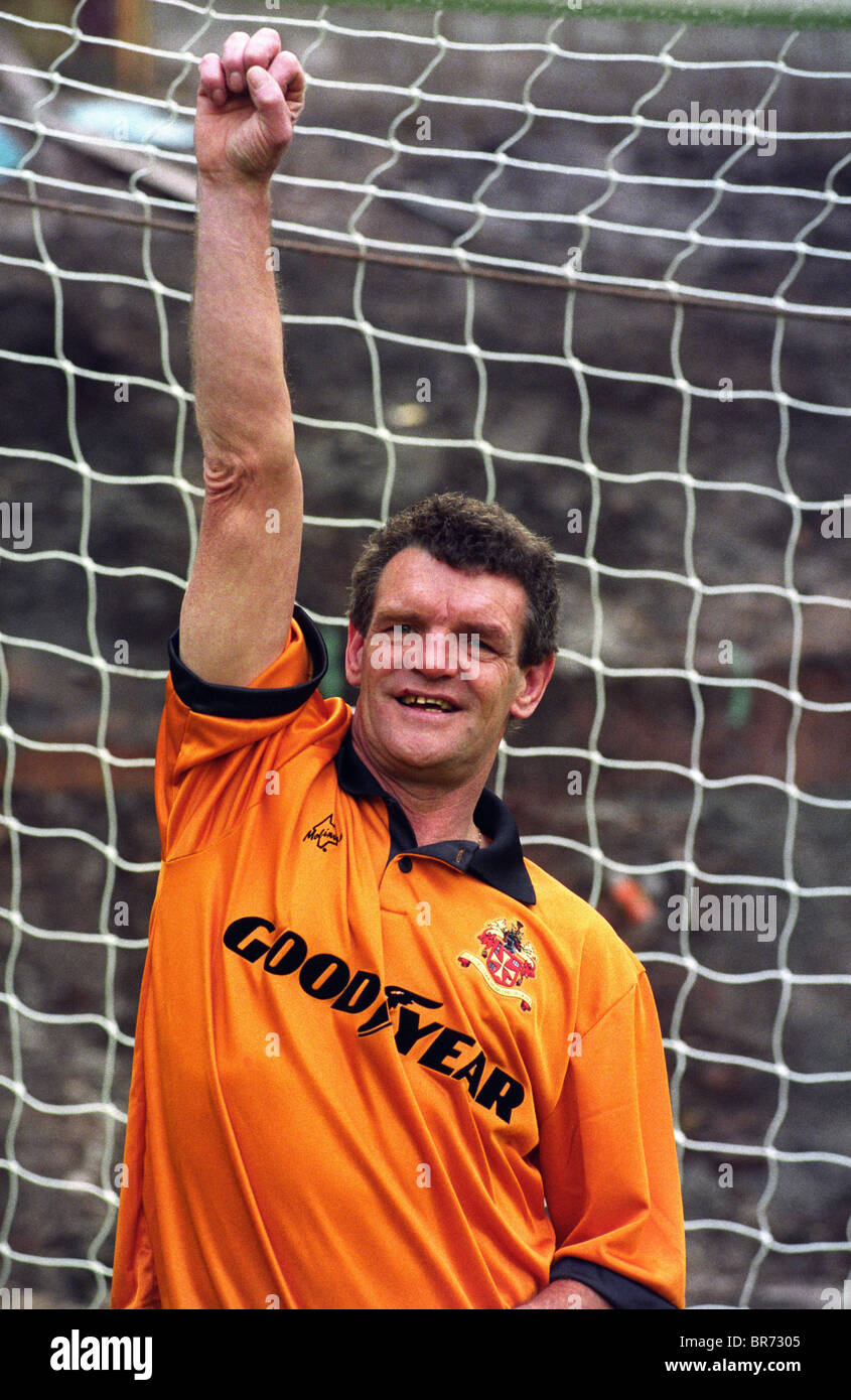 Former Wolverhampton Wanderers FC footballer Hugh Curran back at Molineux 6/10/1993 - Stock Image