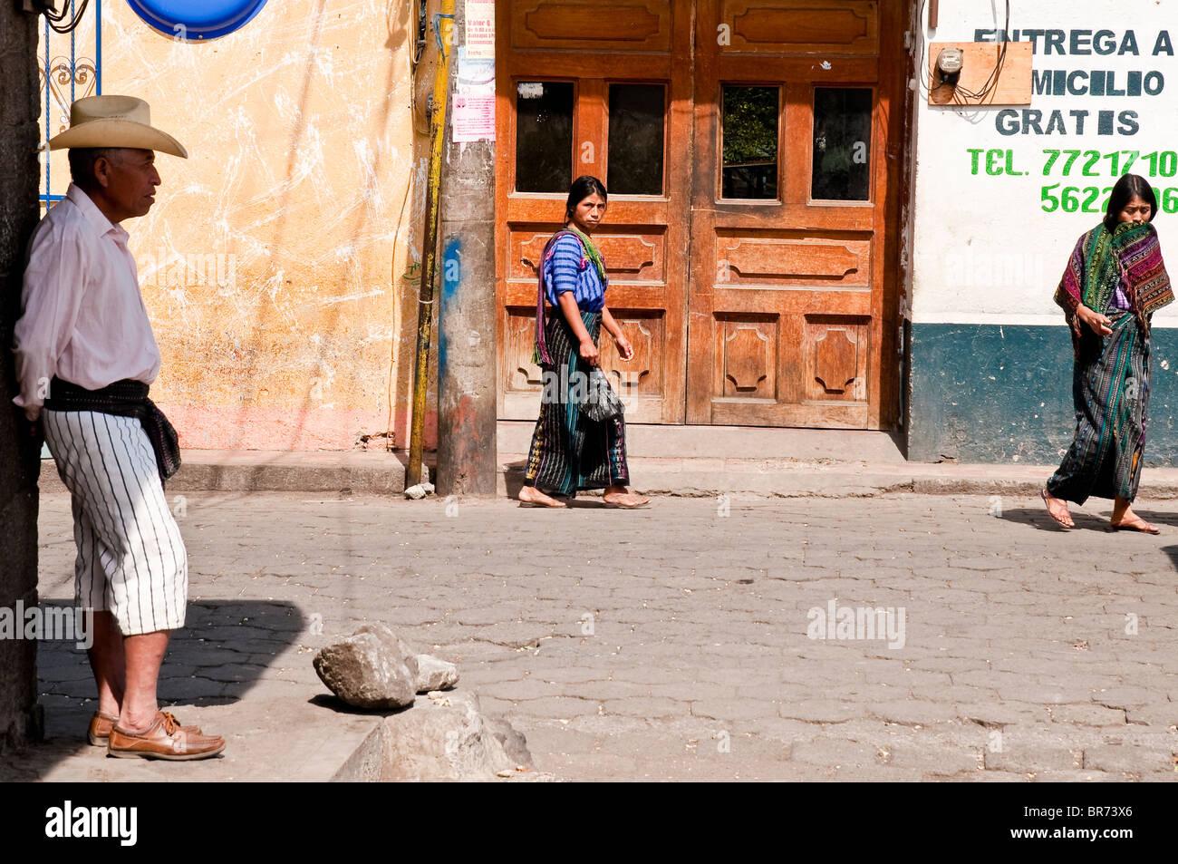Santiago Atitlan street ambiance, in the atitlan lake region, Guatemala. - Stock Image