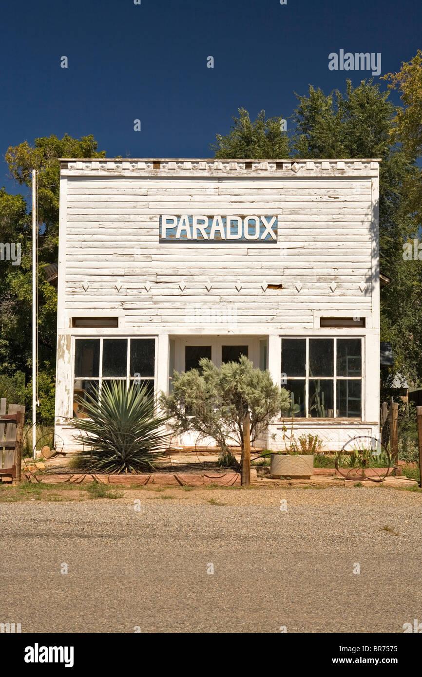 A building Paradox Colorado. Stock Photo