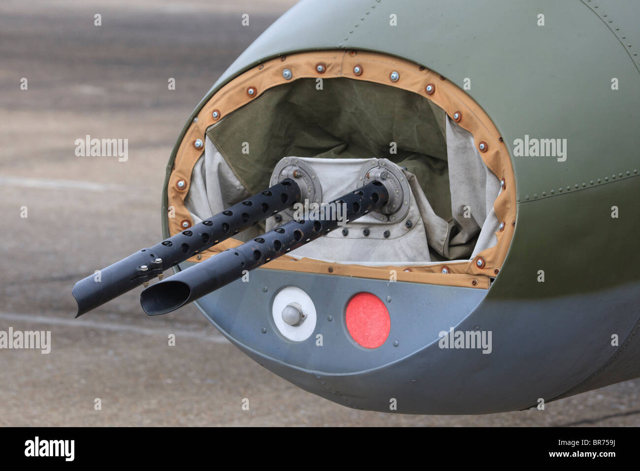 Rear gun turret of B 17 Flying Fortress Sally B at Duxford Stock Photo