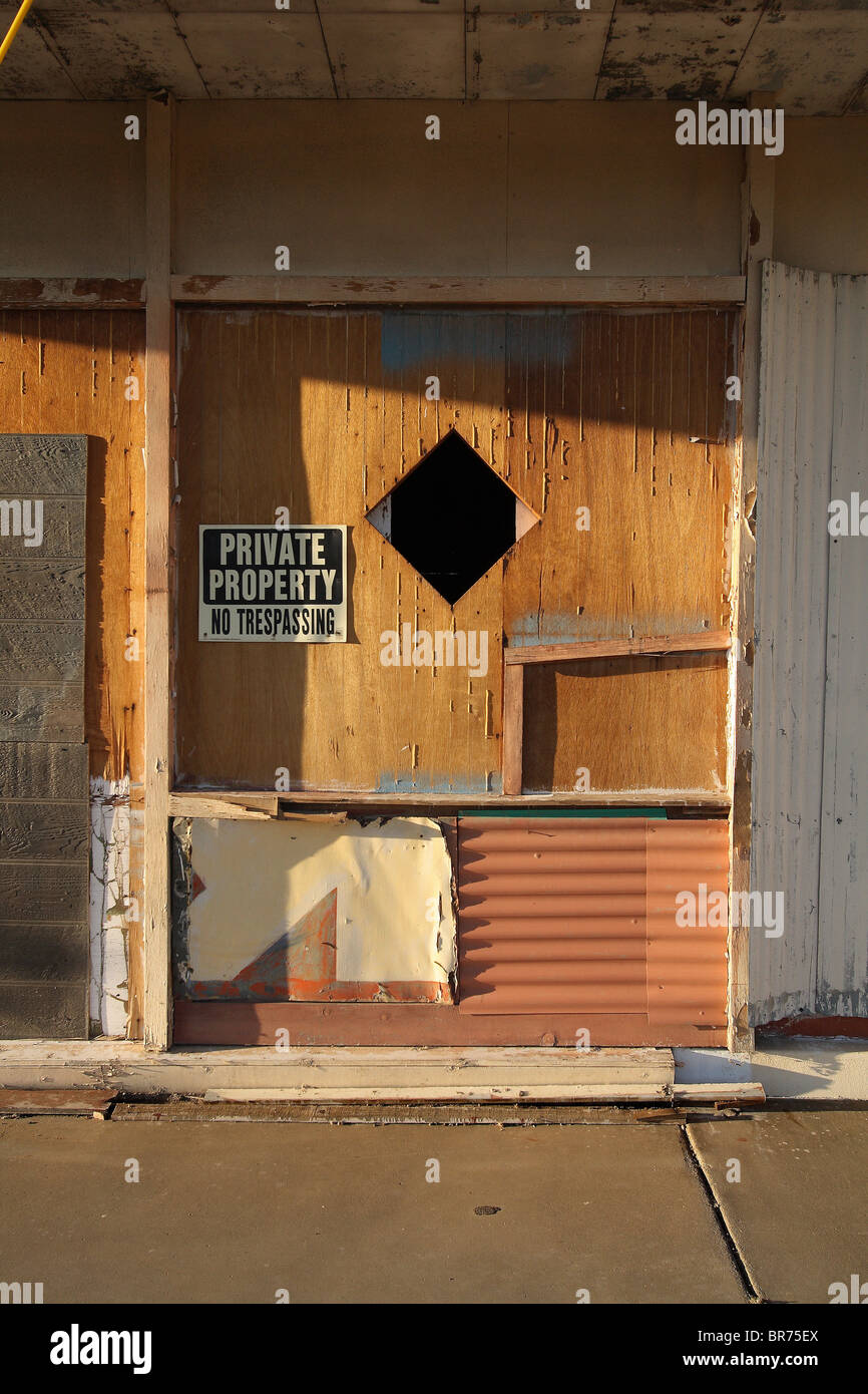 Abandoned building detail - Stock Image