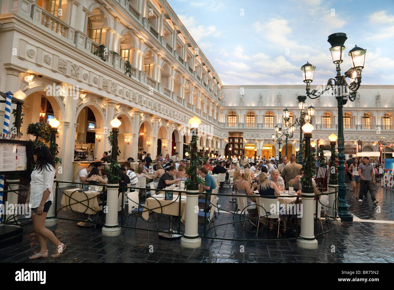 People Eating At A Restaurant St Marks Square In The