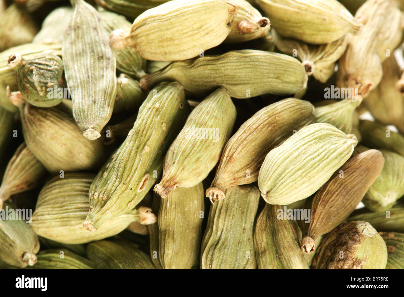 Cardamom seeds close up . - Stock Image
