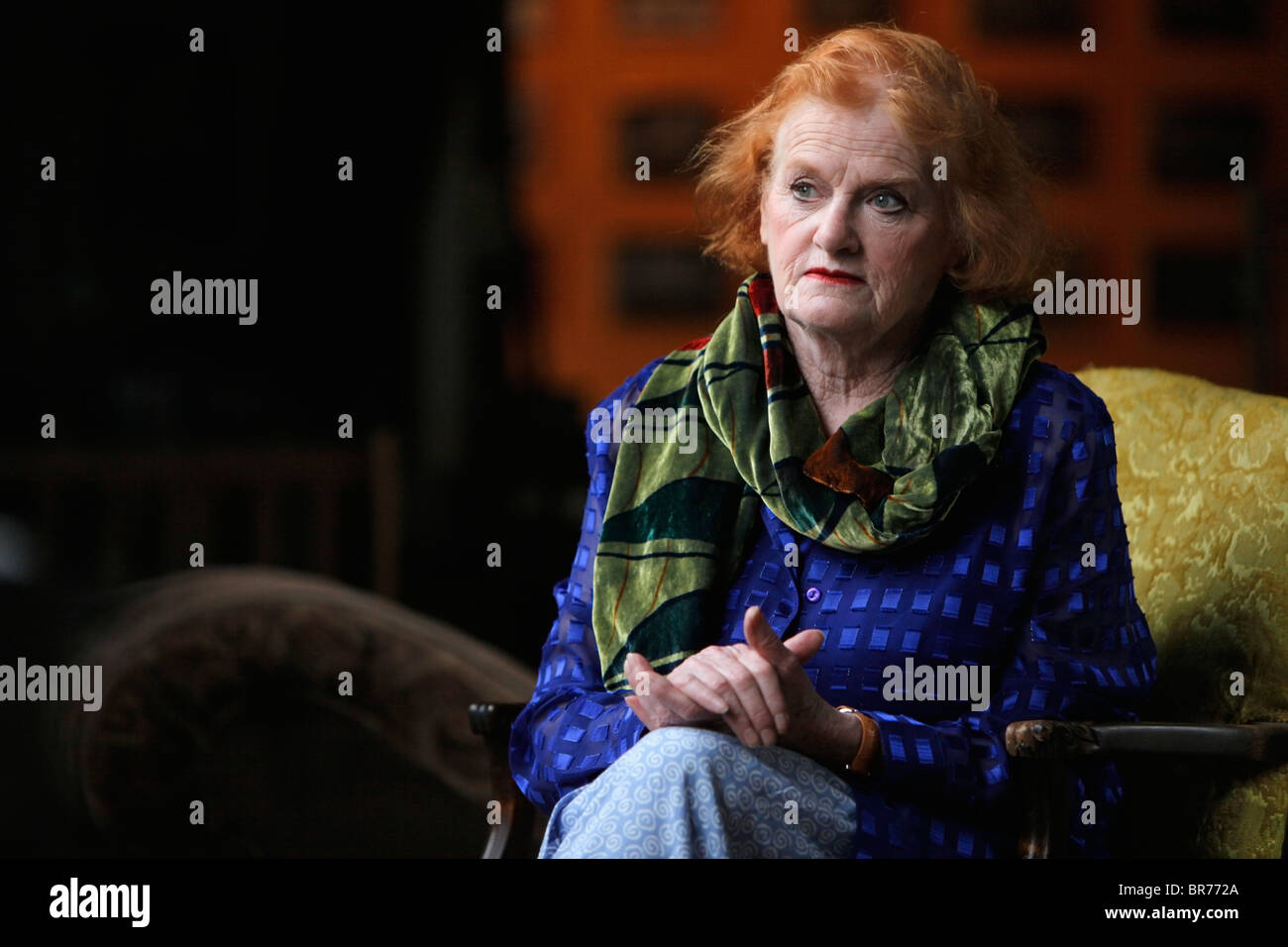 Irish Woman In Contemplation - Stock Image