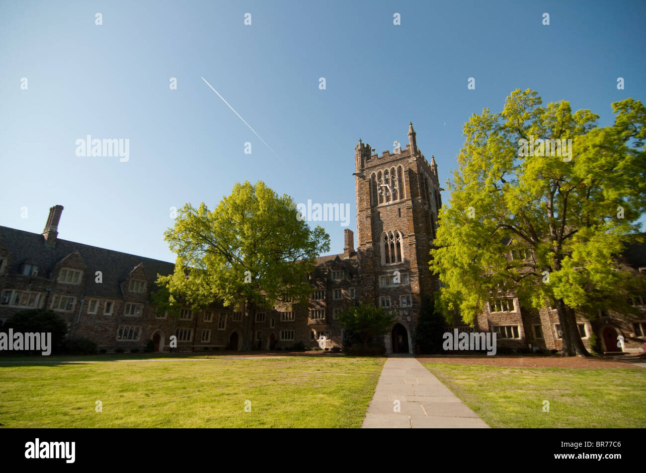 Clocktower Quad on Duke University's West Campus in Durham, North Carolina, USA. - Stock Image