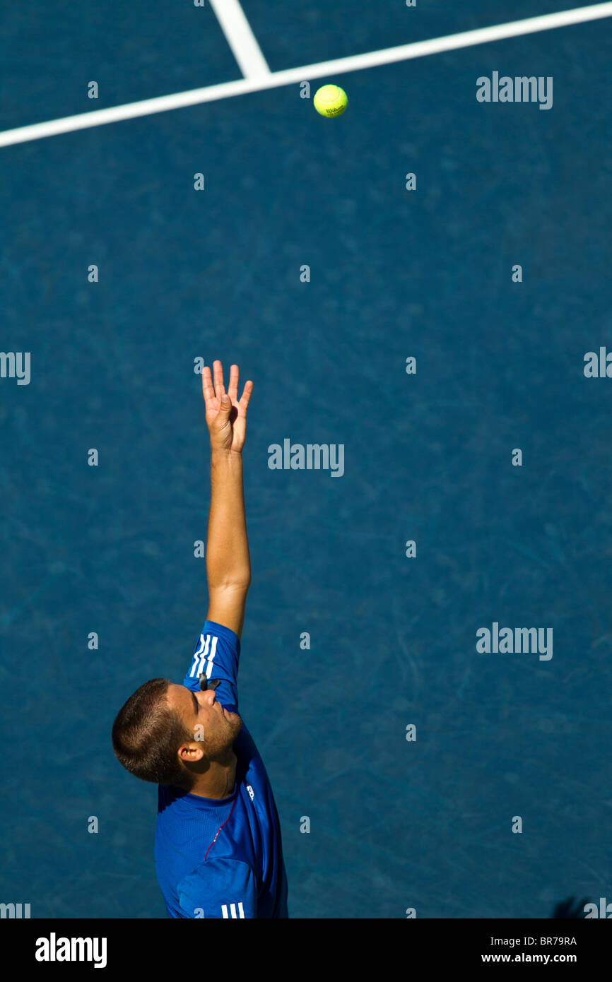 Mikhail Youzhny (RUS) competing at the 2010 US Open Tennis. - Stock Image