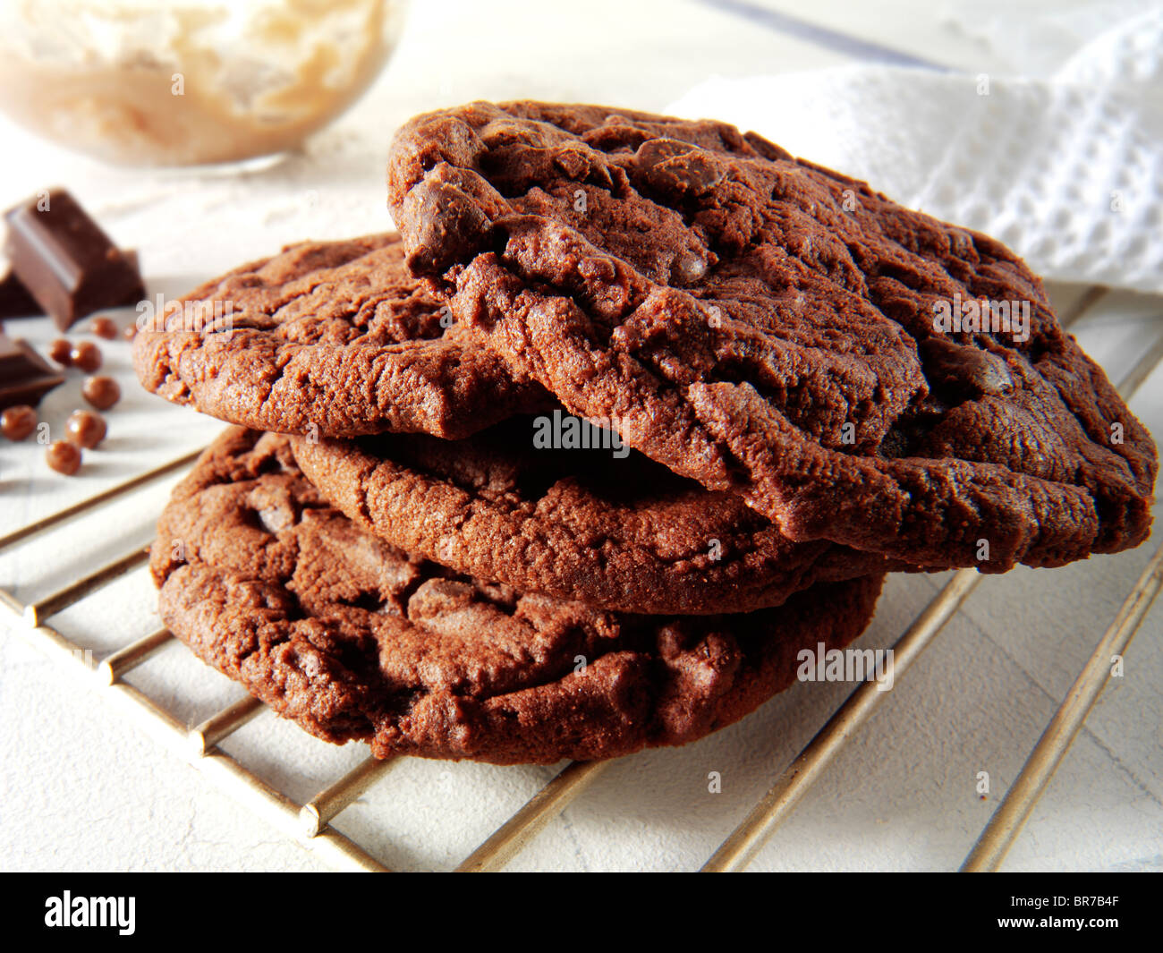 Chocolate biscuits - cookies - Stock Image