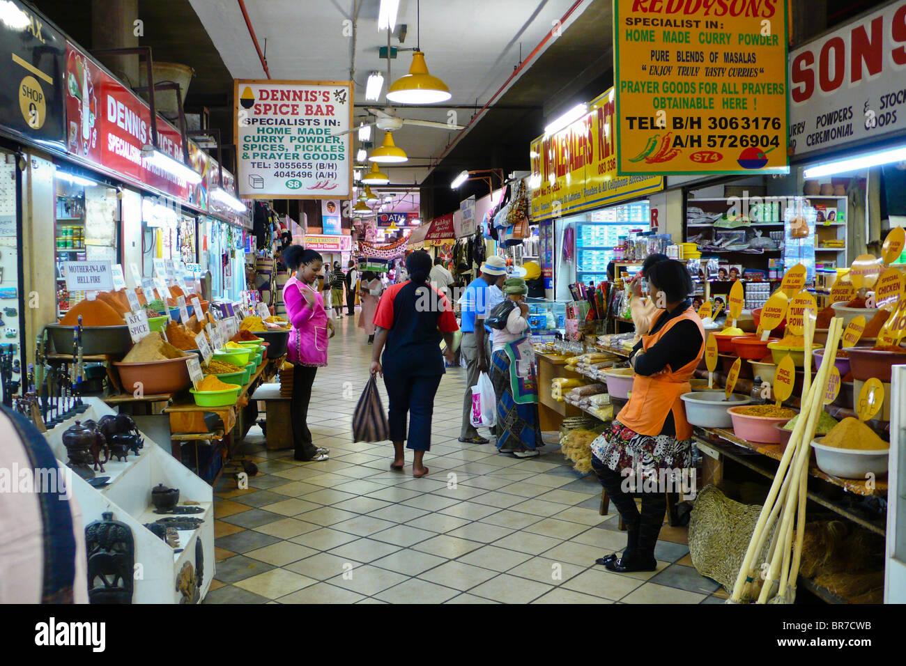 Indian Market (Victoria Street Market), Durban, South Africa - Stock Image