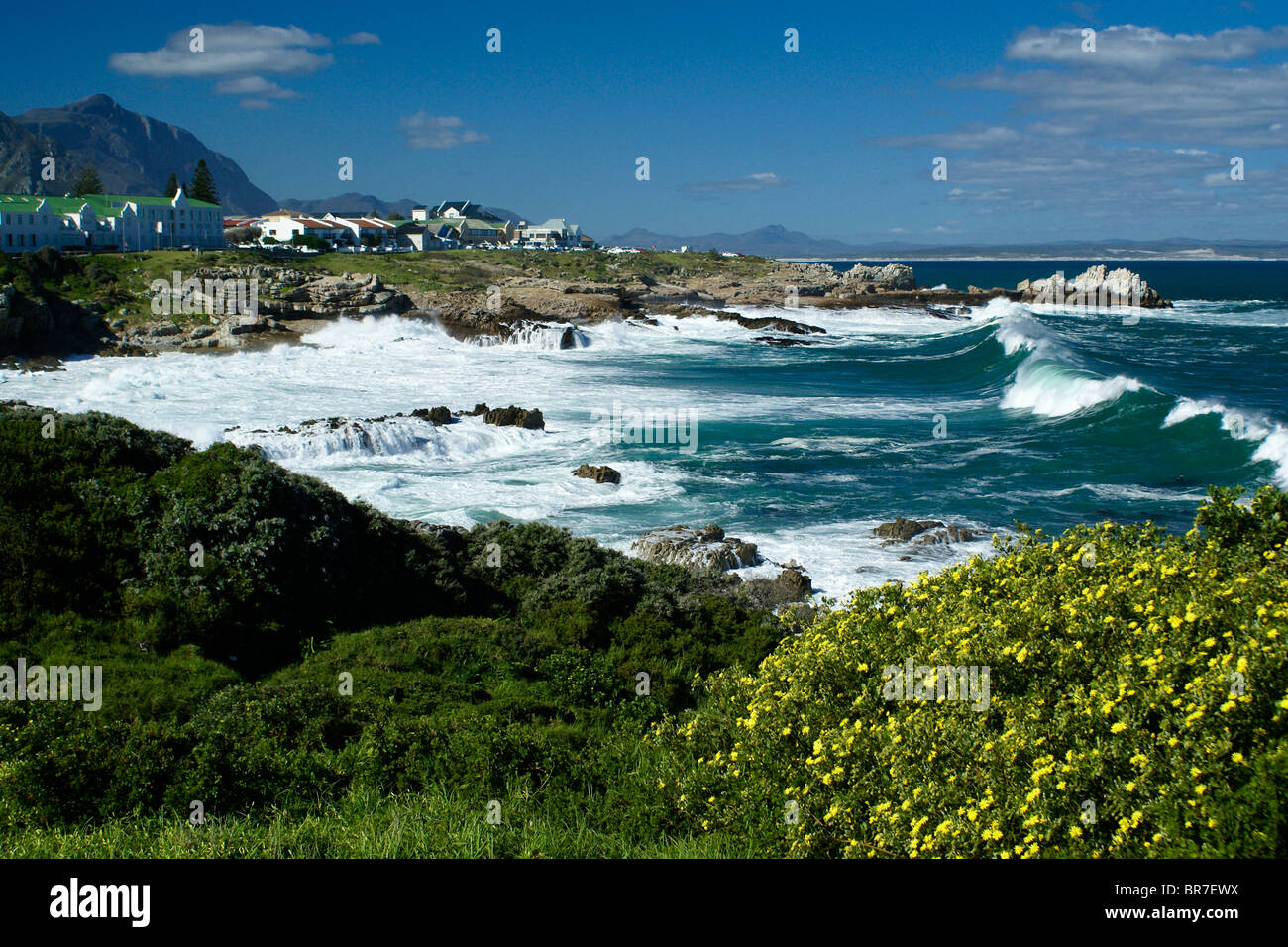 Hermanus and Walker Bay, Western Cape, South Africa Stock Photo