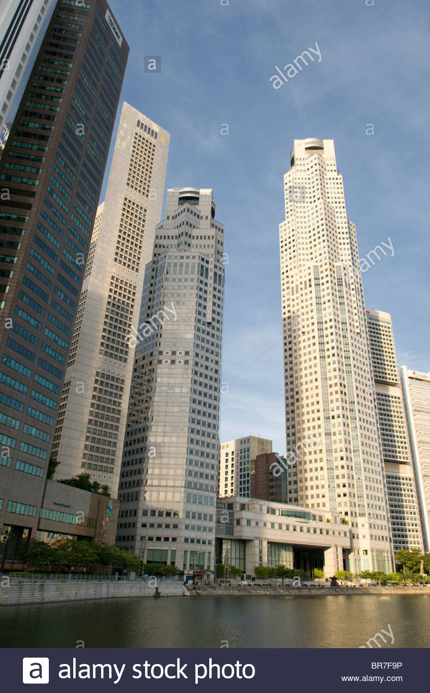 Central Business District Singapore - Stock Image