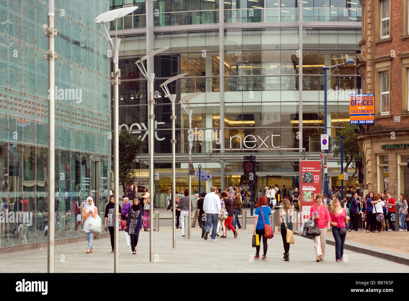 Shopping In Manchester - Stock Image