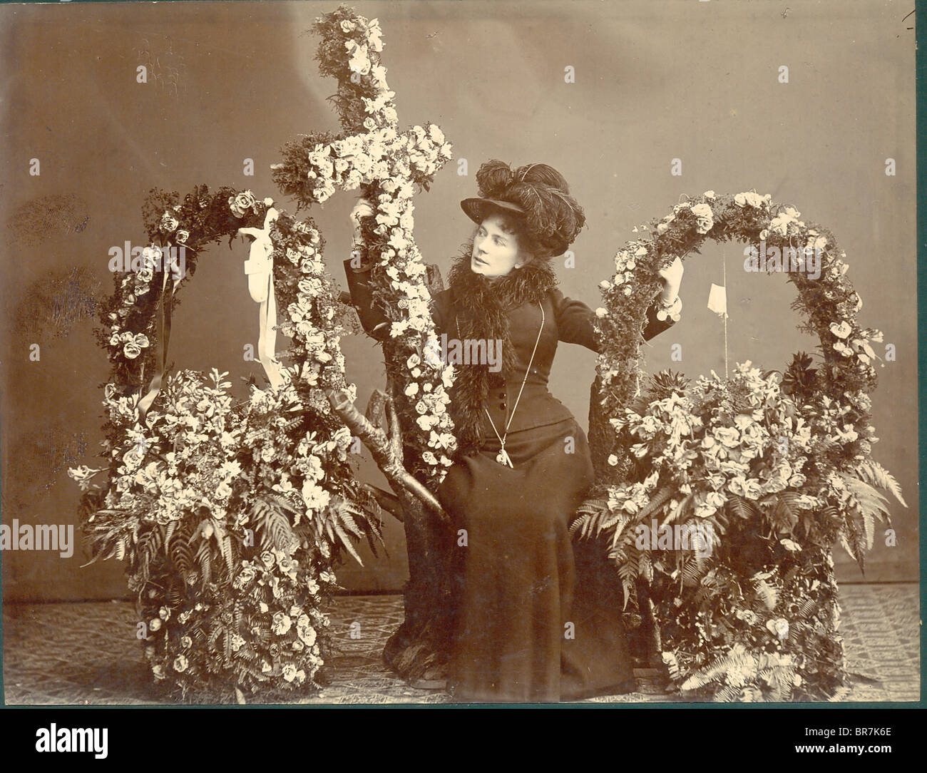 Funeral flowers stock photos funeral flowers stock images alamy victorian cabinet photograph of funeral flowers stock image izmirmasajfo