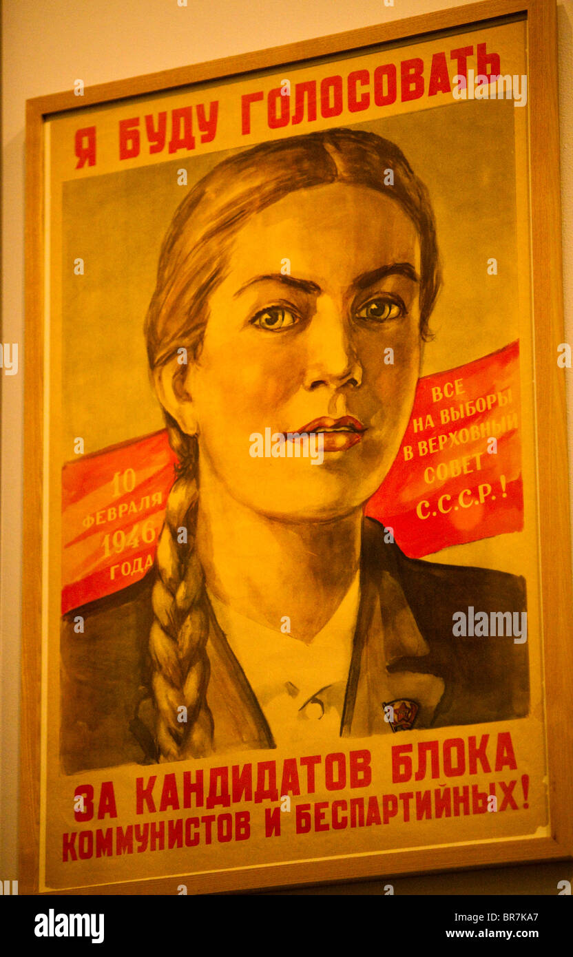 Russian vintage poster - Stock Image