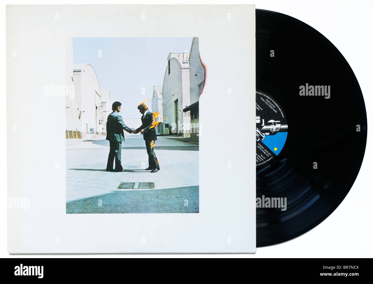Pink Floyd Wish You Were Here album - Stock Image