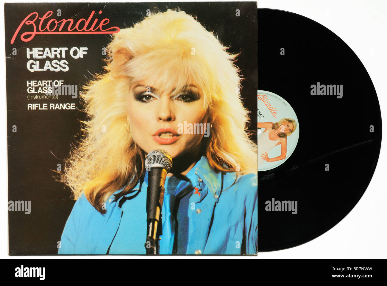 Blondie Heart of Glass single - Stock Image